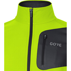 GORE WEAR R3 Partial Gore Windstopper Shirt Herr neon yellow/black